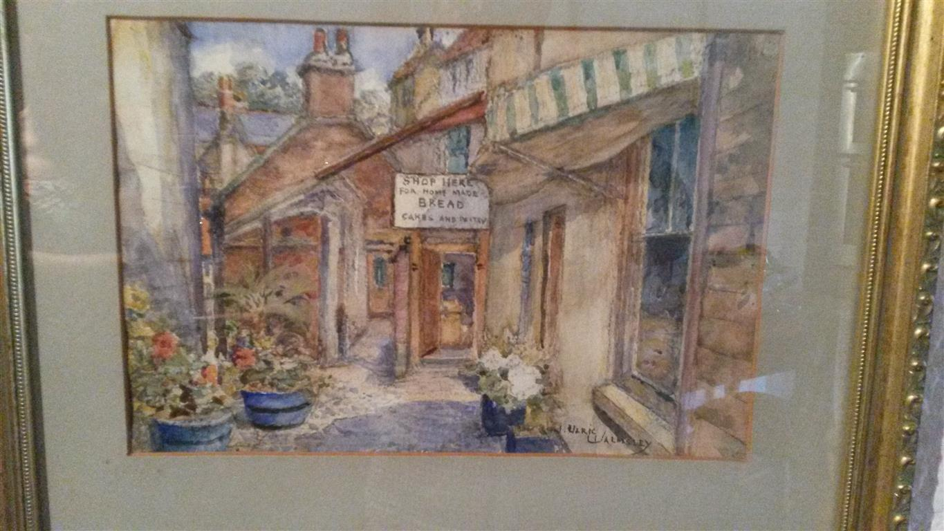 An original painting of the Old Bakehouse by the famous Yorkshire Artist J Ulric Warmsley  circa 1930